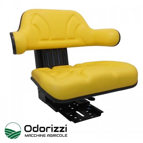 Κάθισμα Τρακτέρ με Μπράτσο Ίσια Βάση Κίτρινο