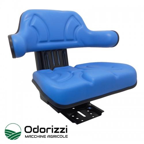 Κάθισμα Τρακτέρ με Μπράτσο Ίσια Βάση Μπλε